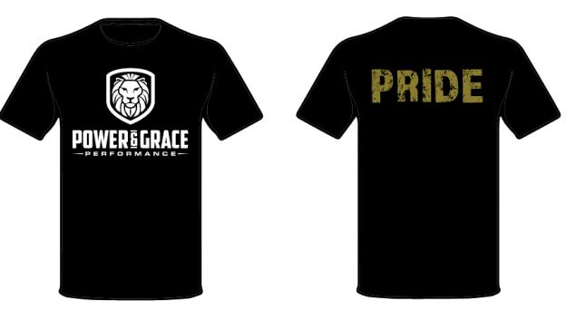 t-shirt design power and grace