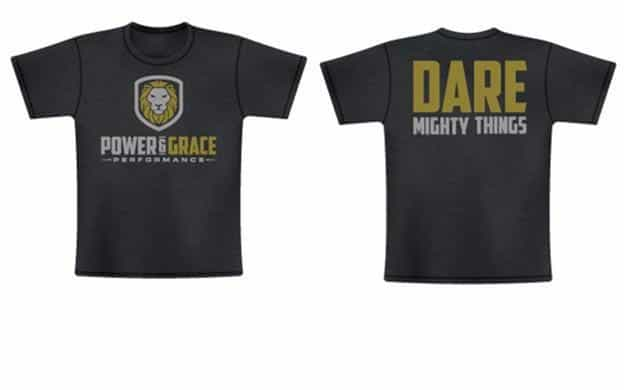 t-shirt design power and grace