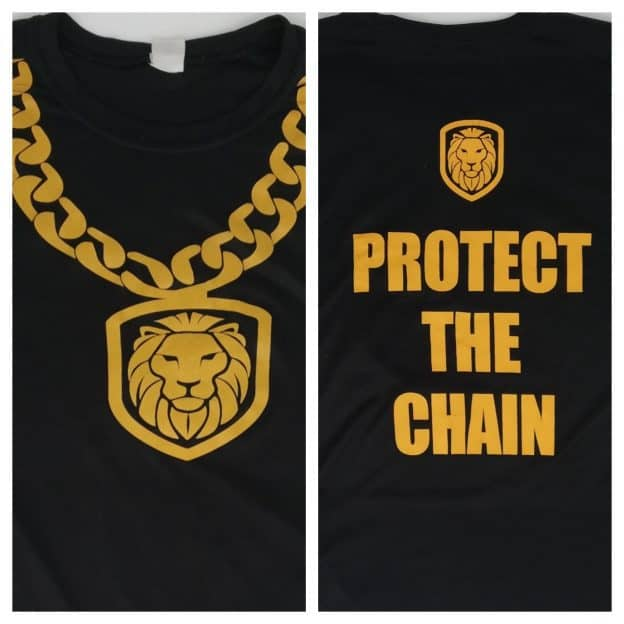 protect the chain graphic close up